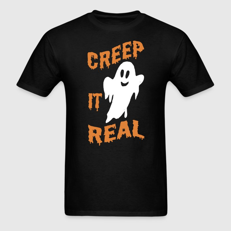 Creep It Real Halloween Ghost Kids T-Shirt T-Shirts - Men's T-Shirt
