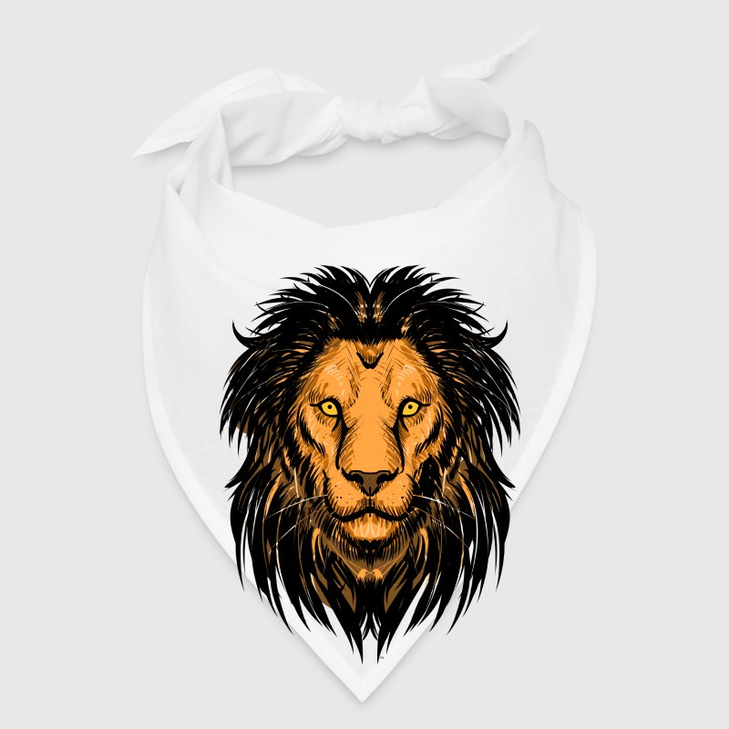 Lion Artwork Caps - Bandana