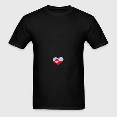 Greenland Heart; Love Greenland Sportswear - Men's T-Shirt