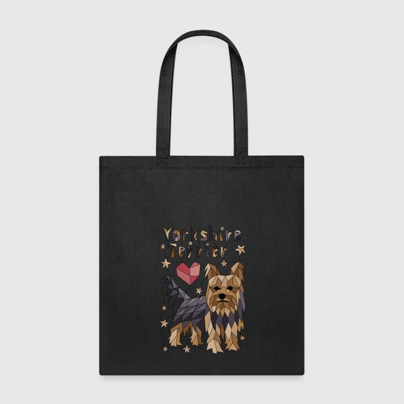 Geometric Yorkshire Terrier Bags & backpacks - Tote Bag