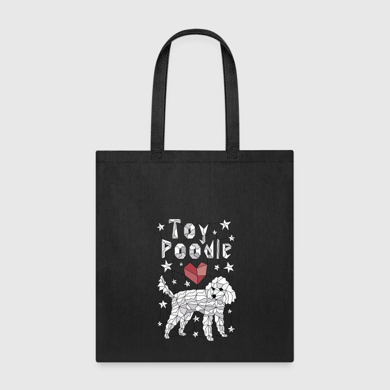 Geometric Toy Poodle Bags & backpacks - Tote Bag