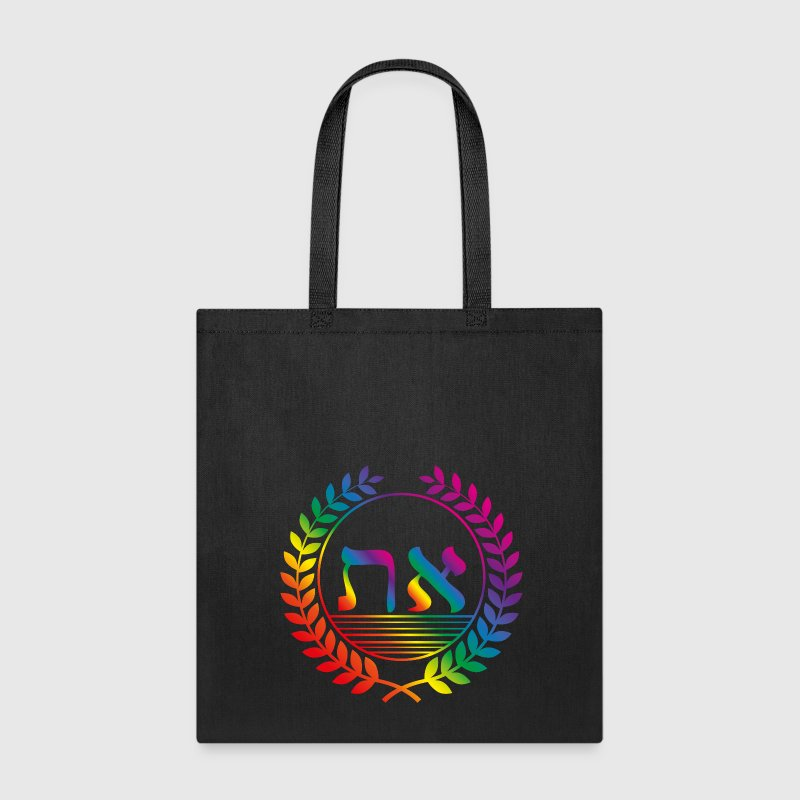 alef tav rainbow Bags & backpacks - Tote Bag