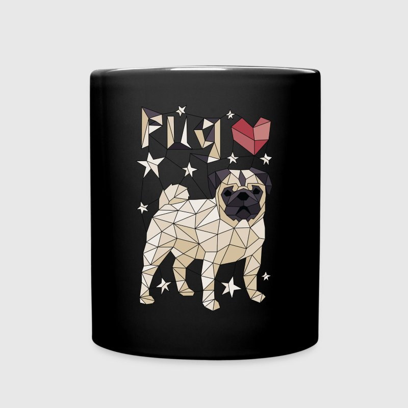 Geometric Pug Mugs & Drinkware - Full Color Mug
