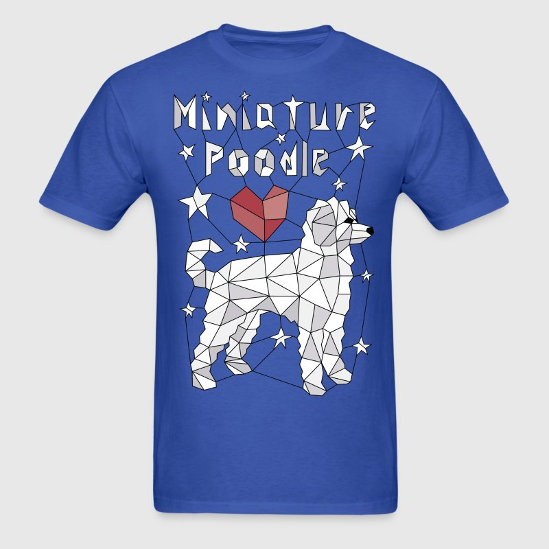 Geometric Miniature Poodle T-Shirts - Men's T-Shirt