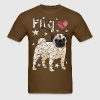 Geometric Pug T-Shirts - Men's T-Shirt