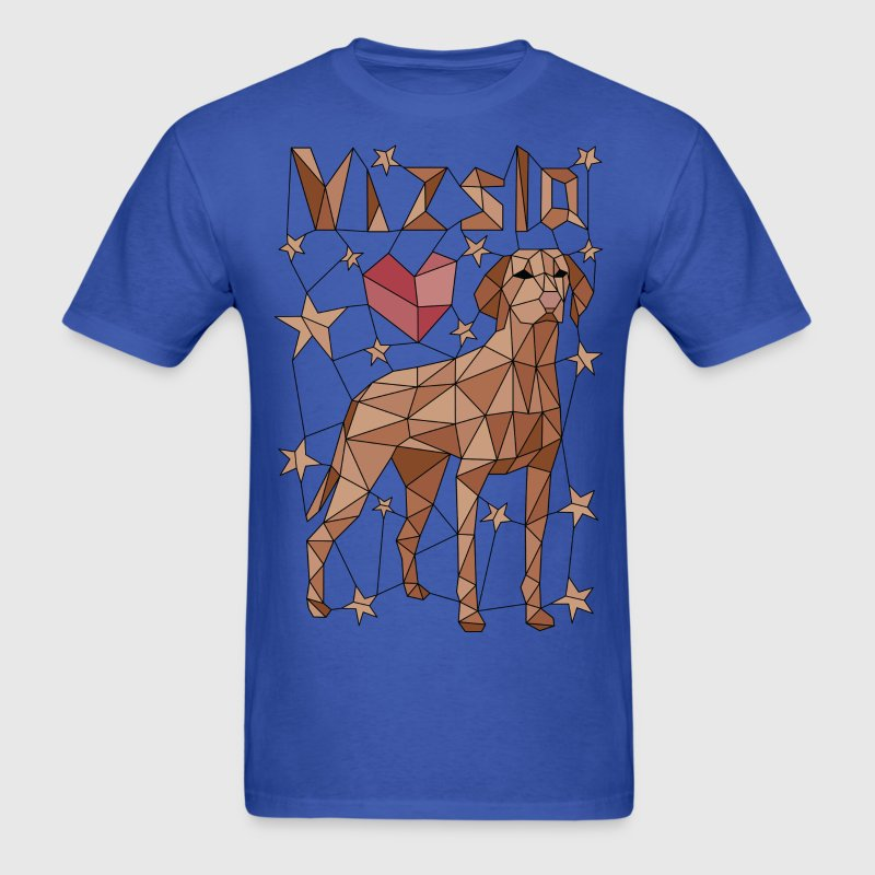Geometric Vizsla T-Shirts - Men's T-Shirt