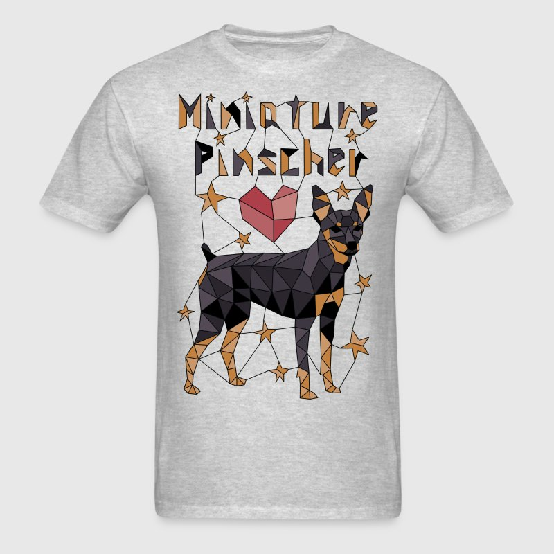 Geometric Miniature Pinscher T-Shirts - Men's T-Shirt