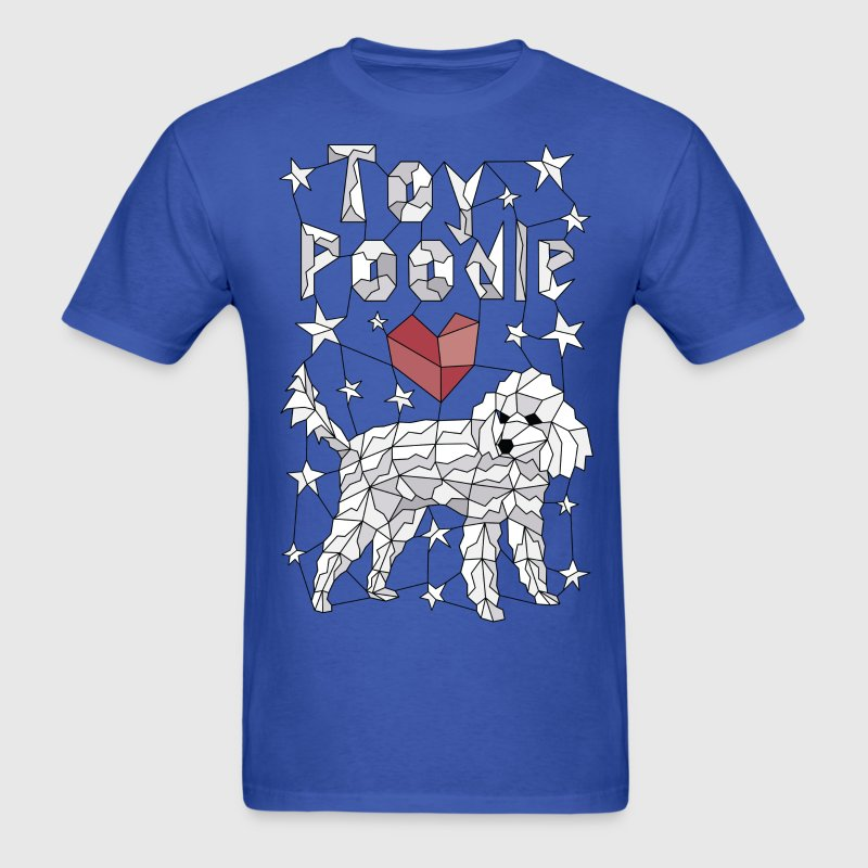 Geometric Toy Poodle T-Shirts - Men's T-Shirt