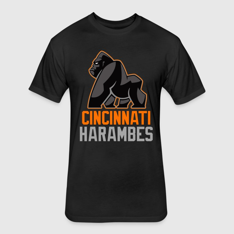 Cincinnati Harambes T-shirt - Fitted Cotton/Poly T-Shirt by Next Level