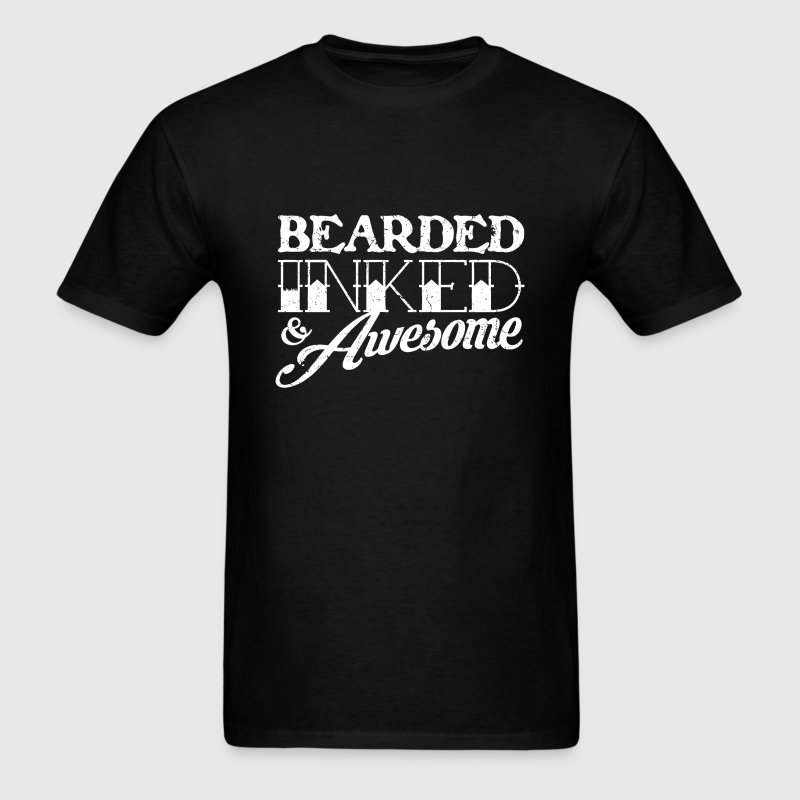 Bearded Inked & Awesome - Men's T-Shirt
