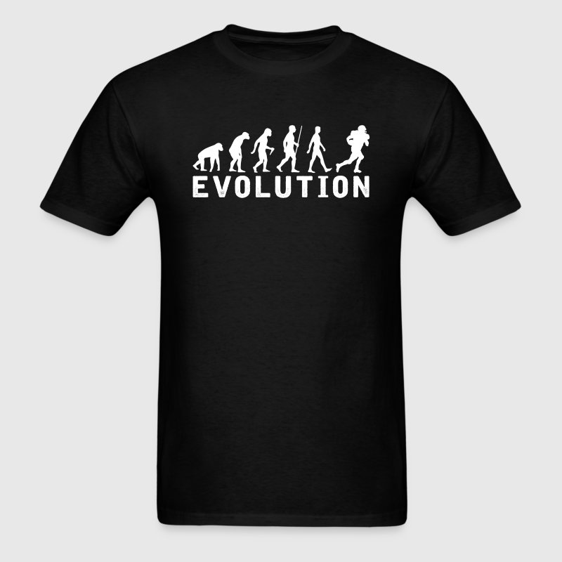 American football Evolution T-Shirt T-Shirts - Men's T-Shirt
