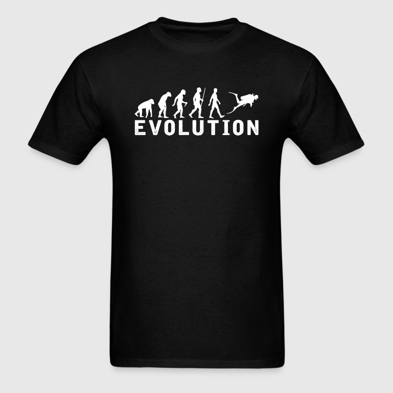 Scuba Diving Evolution T-Shirt T-Shirts - Men's T-Shirt