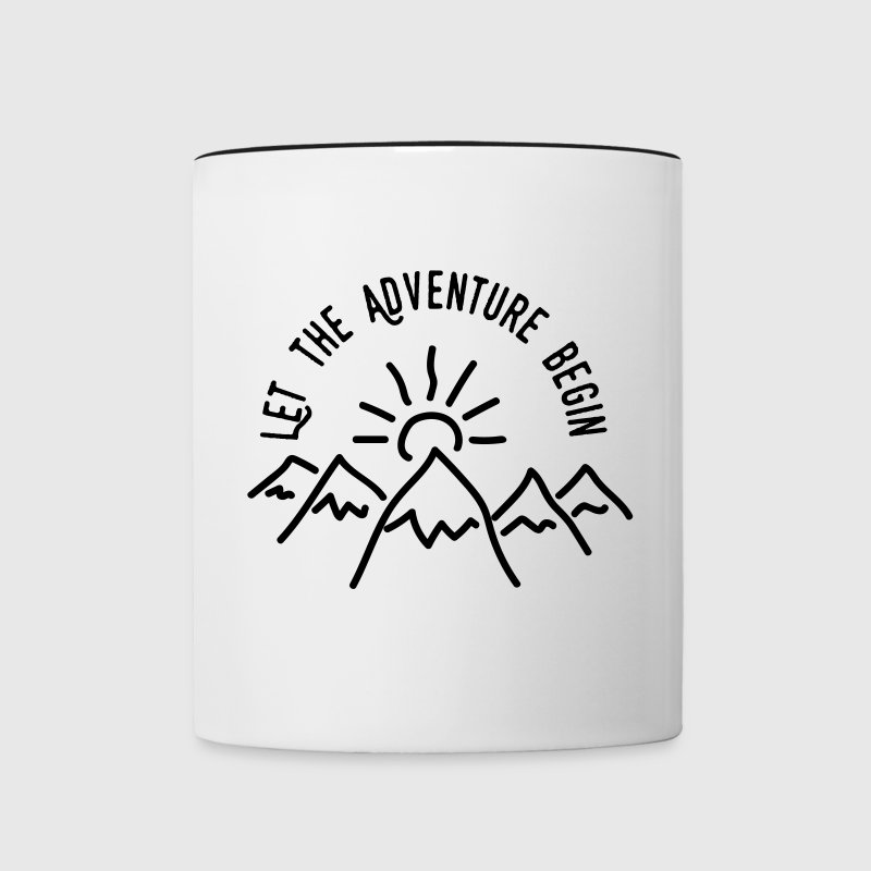 AD Let the Adventure Begin Mugs & Drinkware - Contrast Coffee Mug