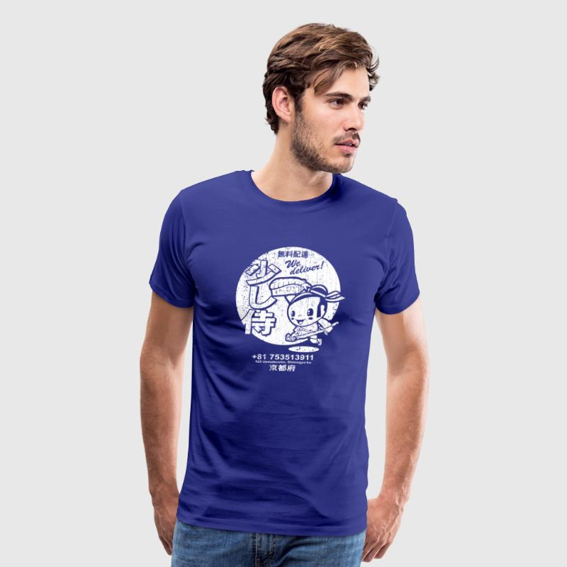 Little Samurai Sushi (vintage look) - Men's Premium T-Shirt