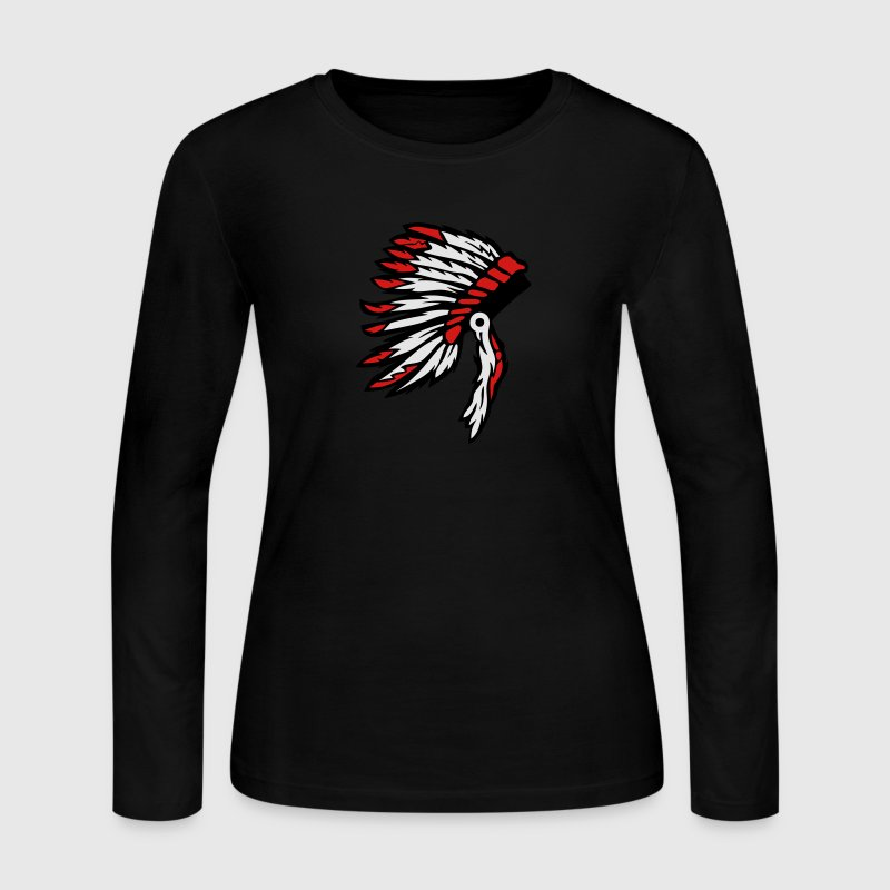 indian chief headdress Long Sleeve Shirts - Women's Long Sleeve Jersey T-Shirt