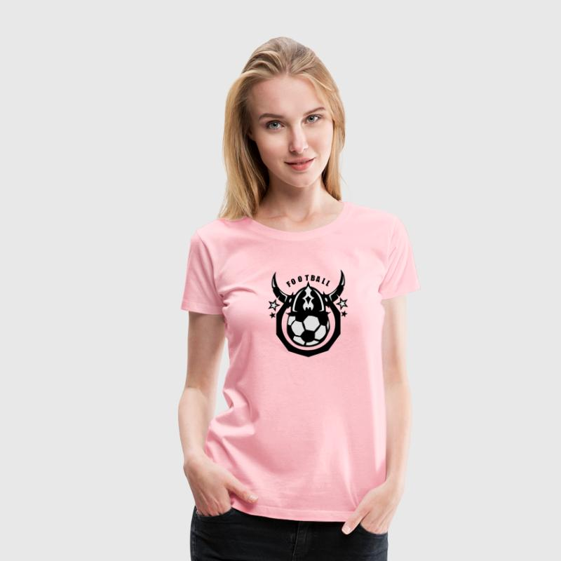soccer club viking helmet logo ball T-Shirts - Women's Premium T-Shirt