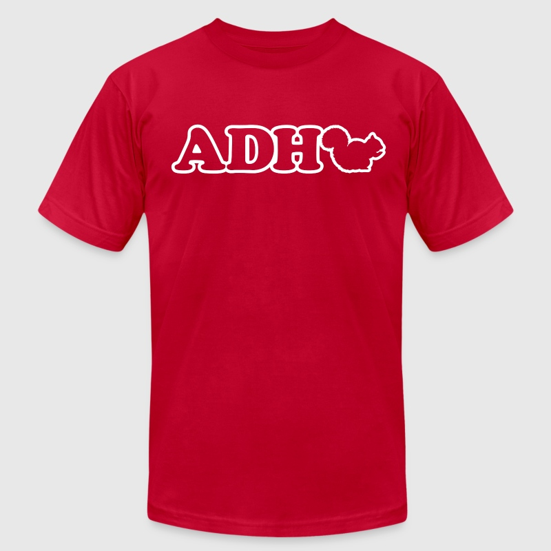 Funny ADHD Squirrel T-Shirts - Men's T-Shirt by American Apparel