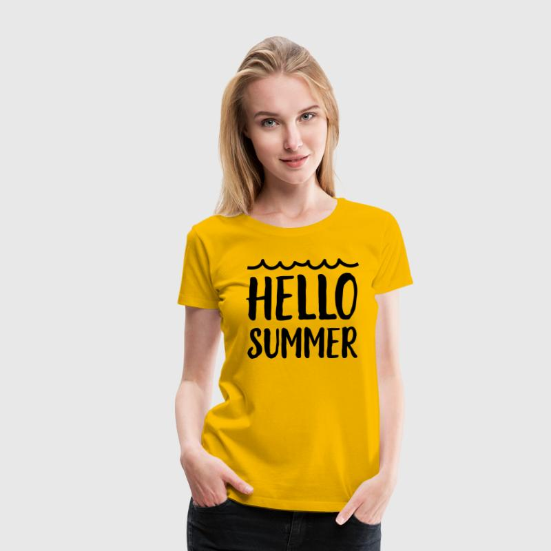 Hello Summer T-Shirts - Women's Premium T-Shirt