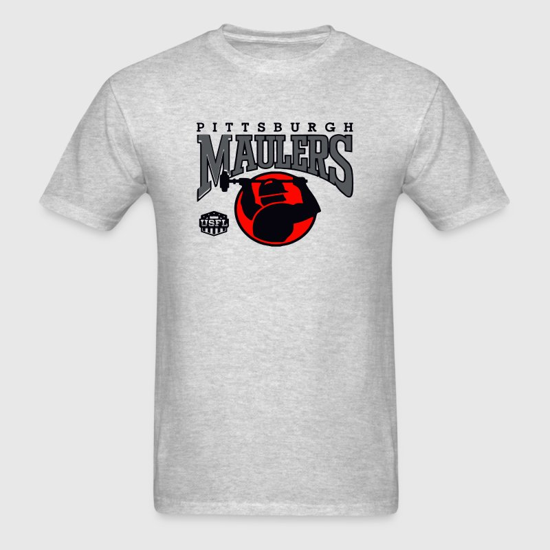 EXTRA LARGE PITTSBURGH MAULERS USFL VINTAGE  - Men's T-Shirt