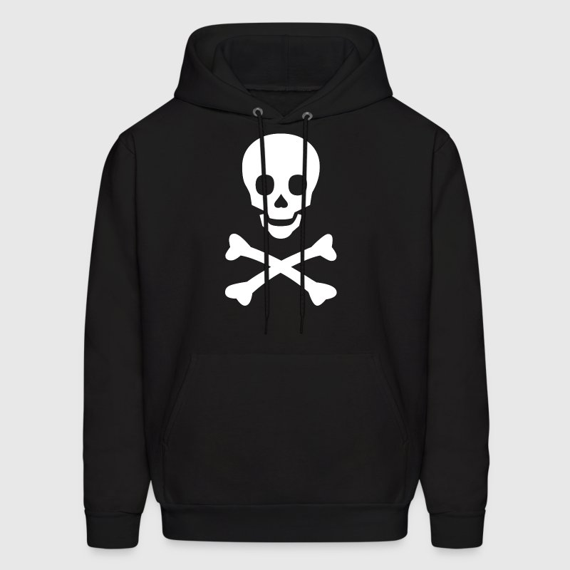 Skull and Bones (White) - Men's Hoodie