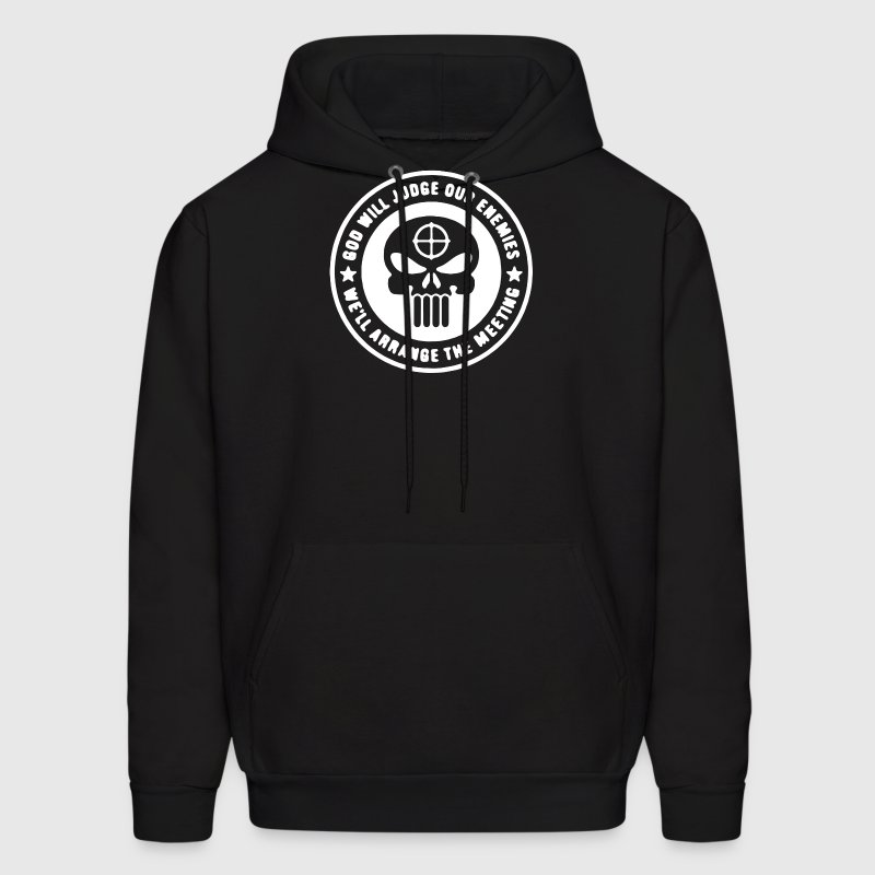 Punisher God Will Judge Funny Military Army  - Men's Hoodie
