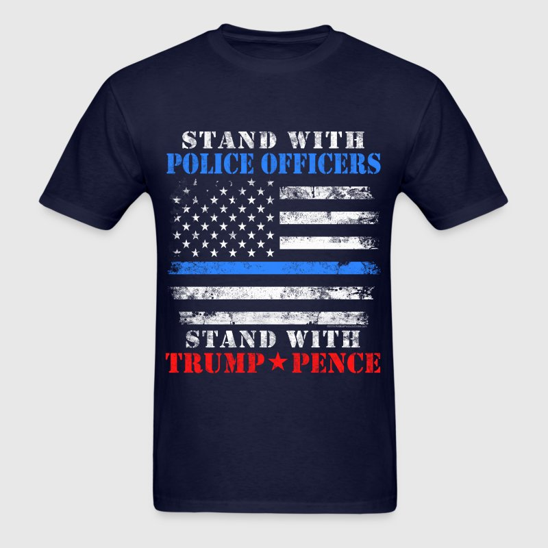 Stand with Police Trump T-Shirts - Men's T-Shirt