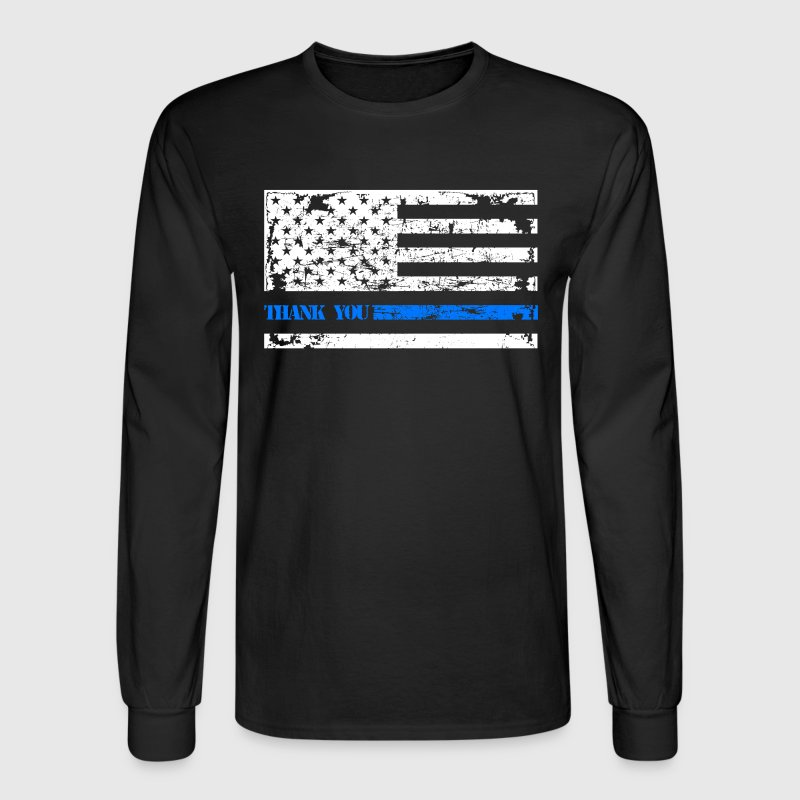 Thin Blue Line Thank You - Men's Long Sleeve T-Shirt