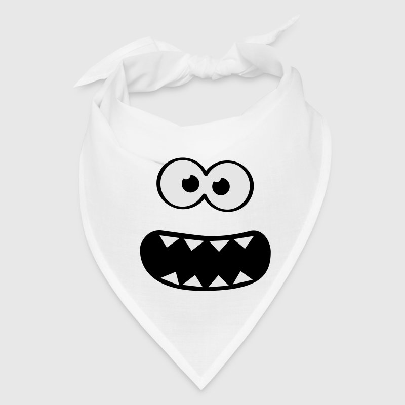 Funny Cookie Monster (Smiley Comic) Face  Caps - Bandana