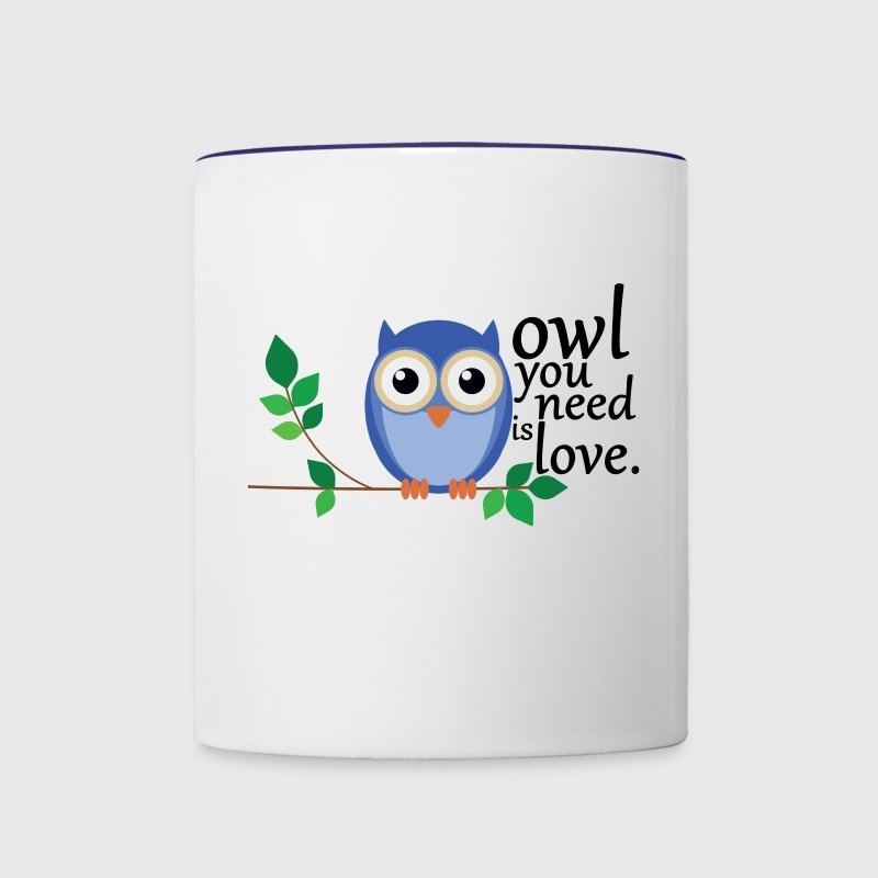 owl you need is love Mugs & Drinkware - Contrast Coffee Mug