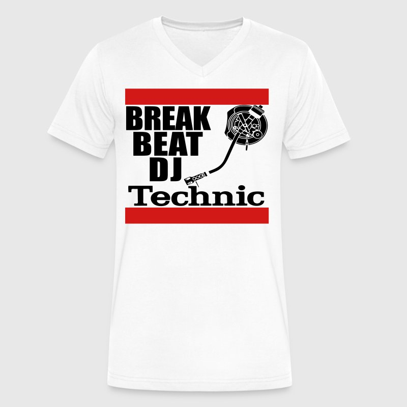 dj technics T-Shirts - Men's V-Neck T-Shirt by Canvas