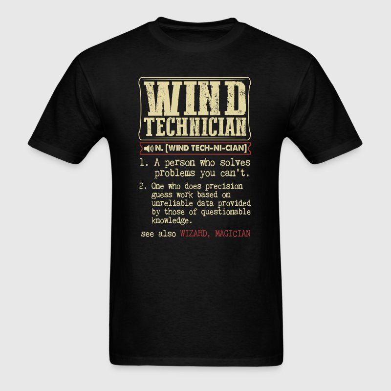 Wind Technician Badass Definition Funny Gift Shirt - Men's T-Shirt