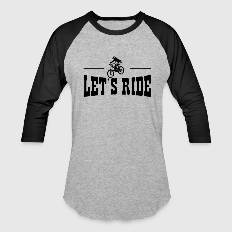 Lets Ride MTB T-Shirts - Baseball T-Shirt