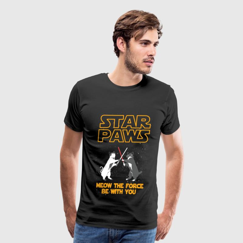 Star Wars cat version - Meow the force be with you - Men's Premium T-Shirt
