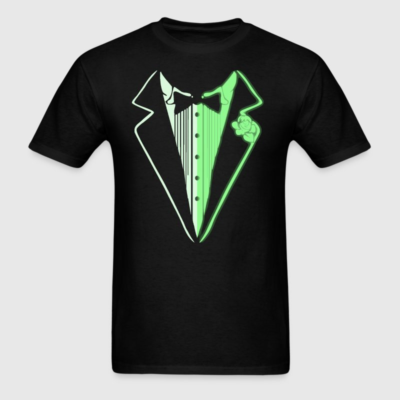 Glow In The Dark Tuxedo - Men's T-Shirt