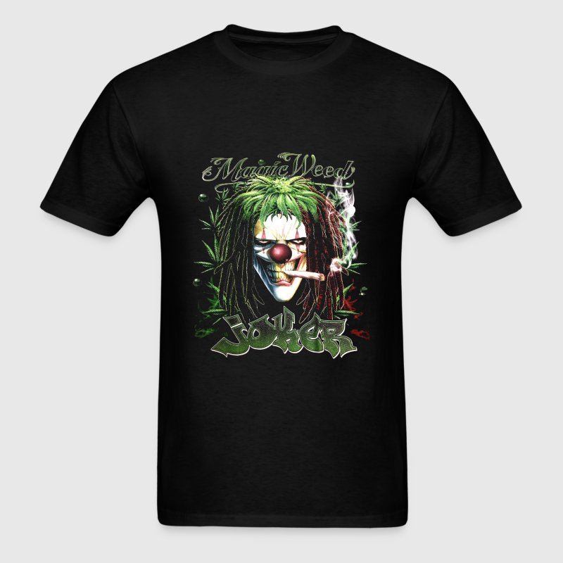 Joker Magic Weed Ganja Mary Jane Mariguana - Men's T-Shirt
