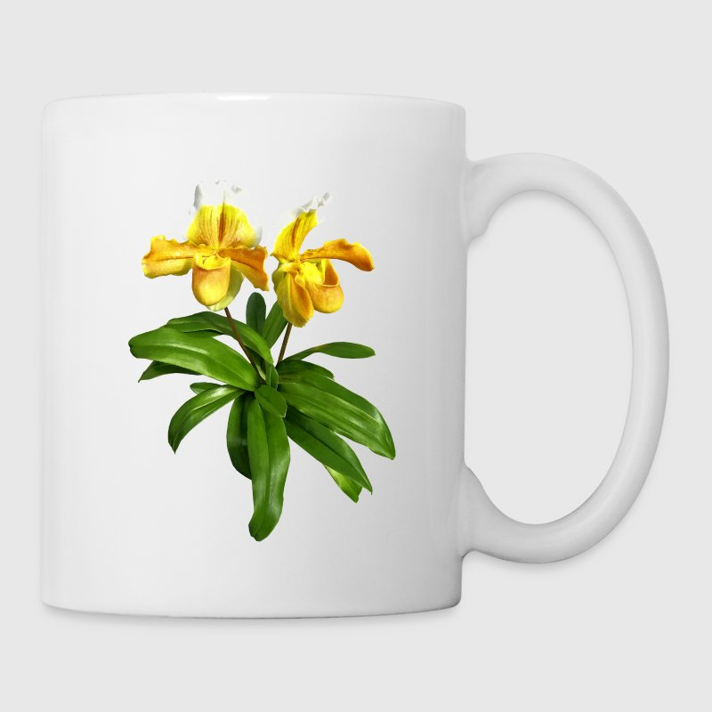 Two Yellow Slipper Orchids Mugs & Drinkware - Coffee/Tea Mug
