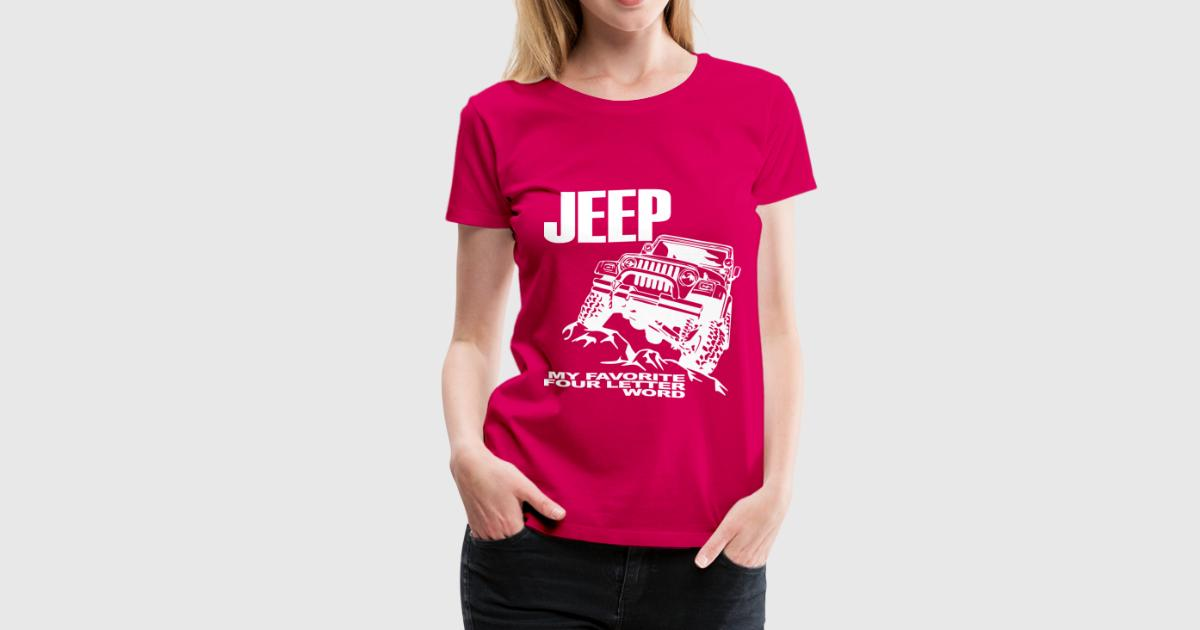 jeep - 4 letter word - white t-shirt | spreadshirt, Muscles