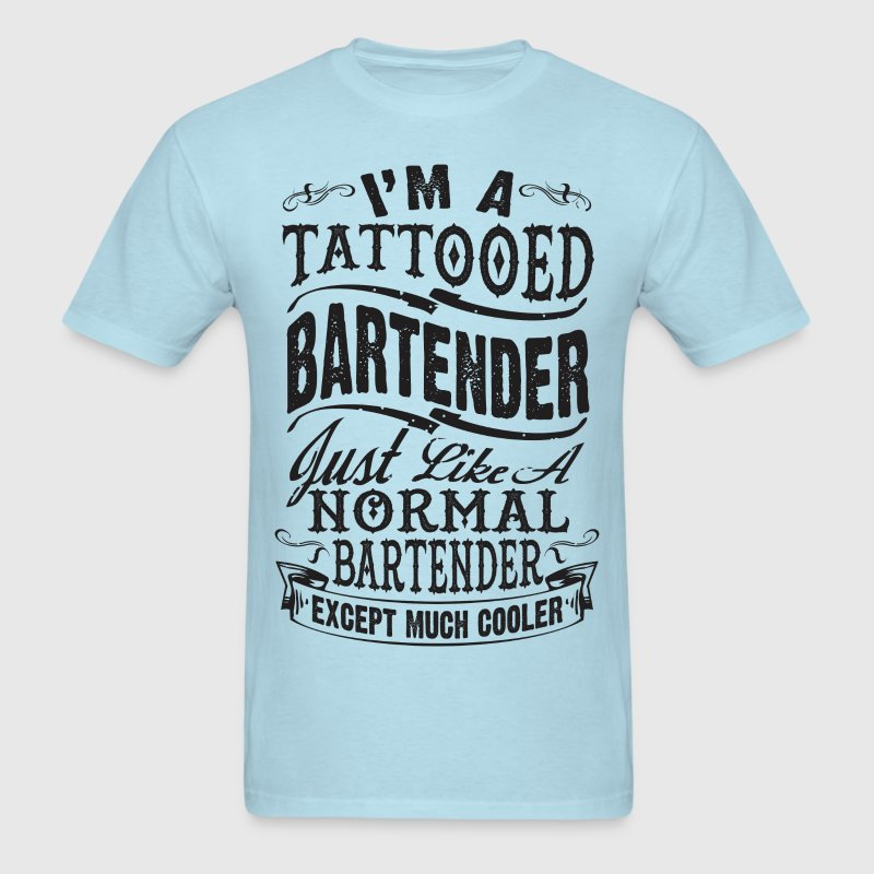 TATTOOED BARTENDER MEN T-SHIRT - Men's T-Shirt