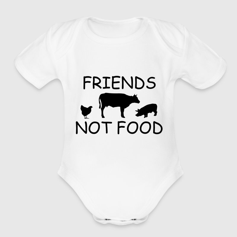 FRIENDS1.png Baby Bodysuits - Short Sleeve Baby Bodysuit