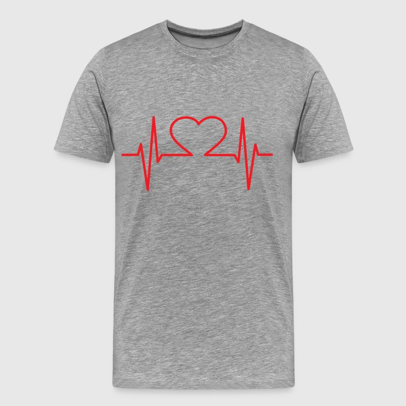 Heart EKG - Men's Premium T-Shirt