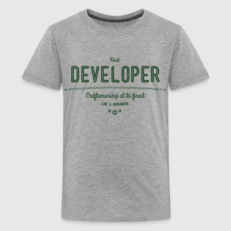 best developer - craftsmanship at its finest Kids' Shirts - Kids' Premium T-Shirt