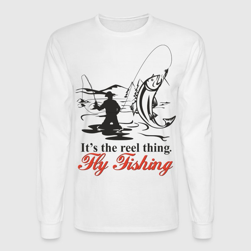 Fly Fishing Long Sleeve Shirts - Men's Long Sleeve T-Shirt