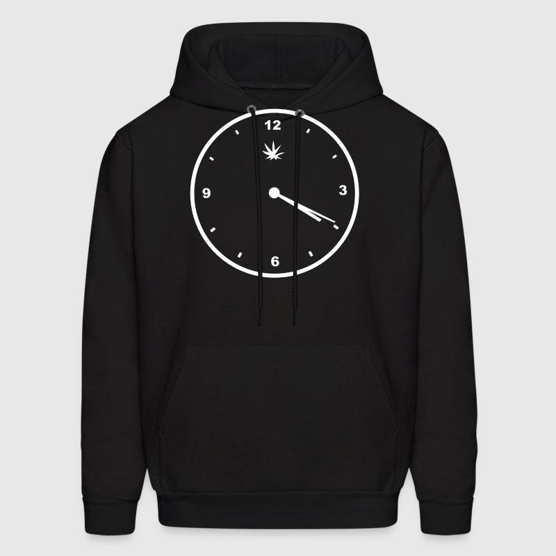 420 Clock Face Stoner Humour Weed Cannabis Pot Fou - Men's Hoodie