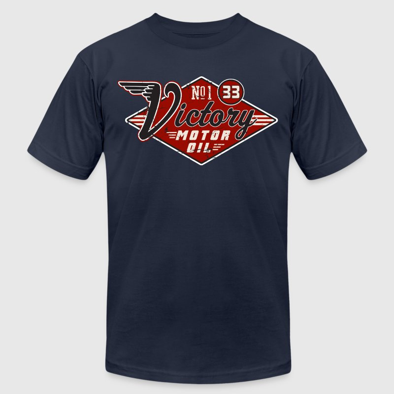 Victory Motor Oil - Men's T-Shirt by American Apparel