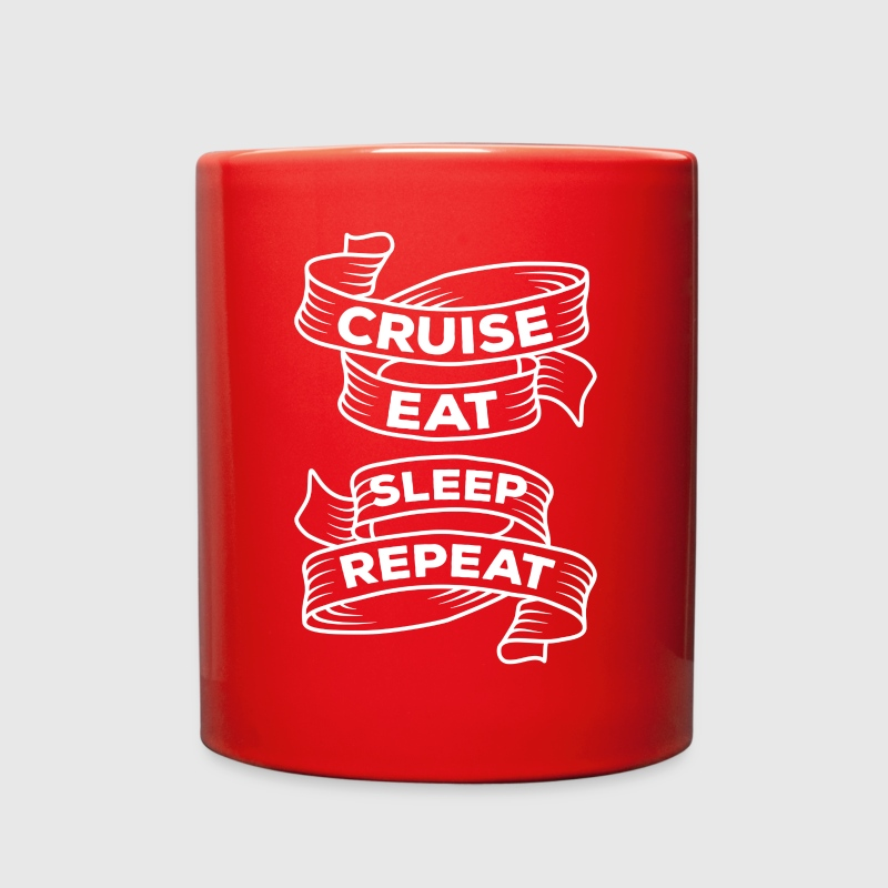 Cruise Eat Sleep Repeat Cruising T-shirt Mugs & Drinkware - Full Color Mug