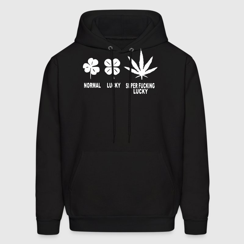 Normal Lucky Super Fucking Lucky - Men's Hoodie