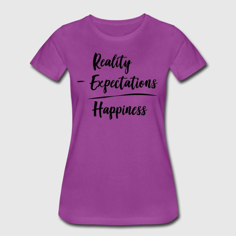 Reality minus expectations equals happiness T-Shirts - Women's Premium T-Shirt