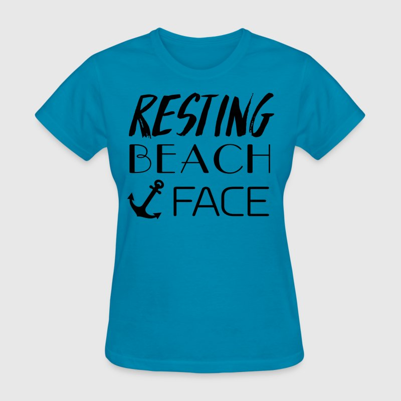 Resting Beach Face T-Shirts - Women's T-Shirt