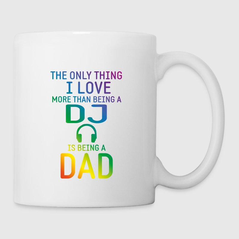 dj and dad rainbow Mugs & Drinkware - Coffee/Tea Mug