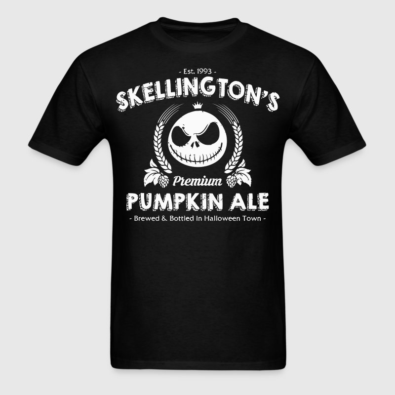 Skellington's Pumpkin Ale - Men's T-Shirt